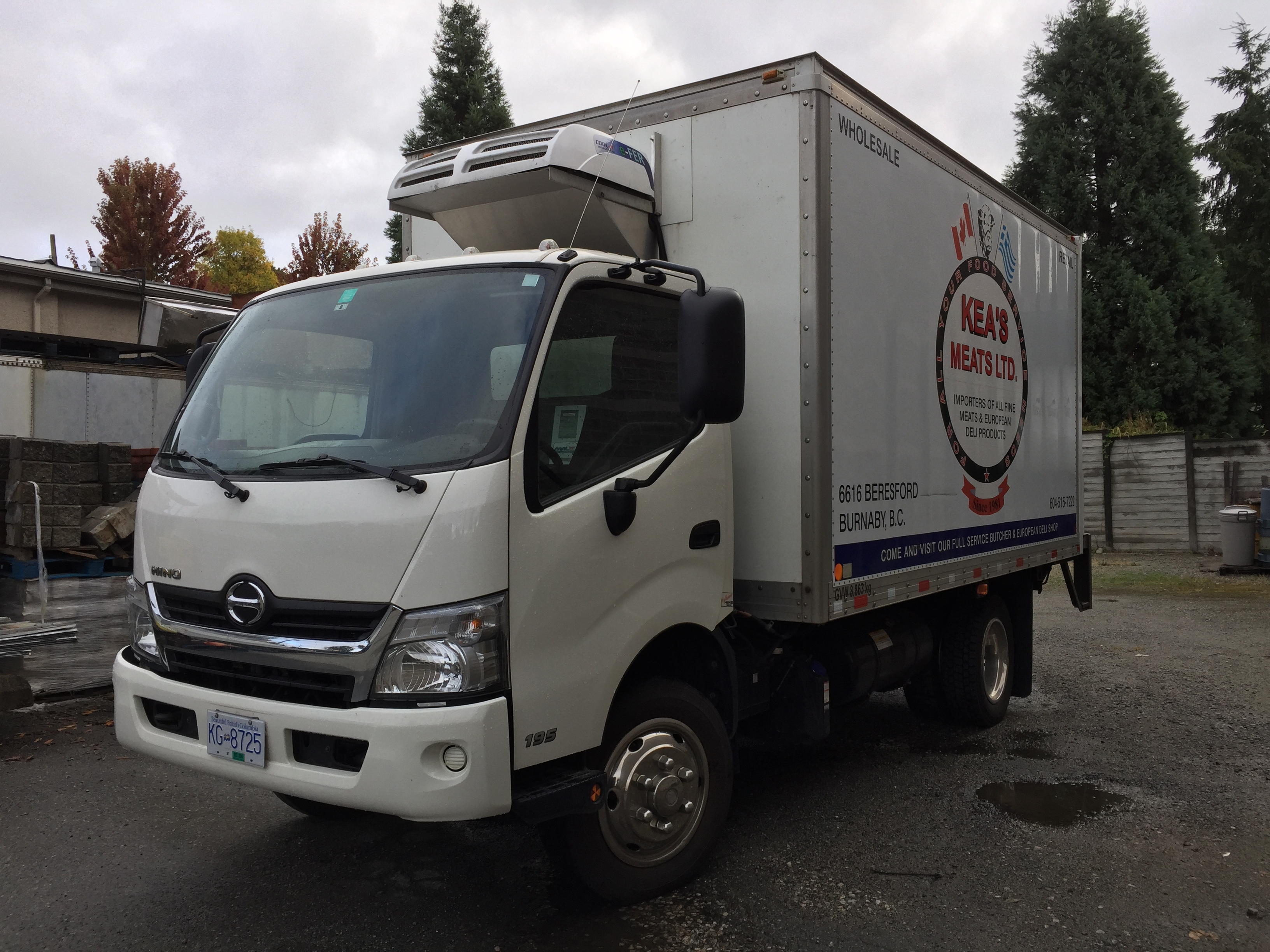 Hino 195 Full Electric Reefer Unit for Cold Deliveries | Burnaby